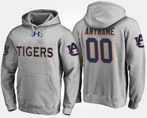 Name and Number Tigers Customized Hoodie #00 Men's Gray