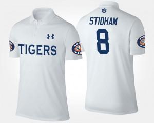 Name and Number For Men's Jarrett Stidham Auburn Polo #8 White