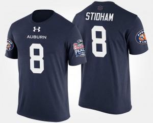 Peach Bowl #8 Navy Mens Jarrett Stidham Tigers T-Shirt Bowl Game