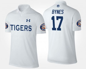 Name and Number #17 Mens Josh Bynes Tigers Polo White