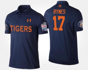 For Men's #17 Bowl Game Josh Bynes Tigers Polo Navy Peach Bowl Name and Number