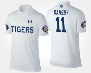 Name and Number White Karlos Dansby AU Polo #11 Mens