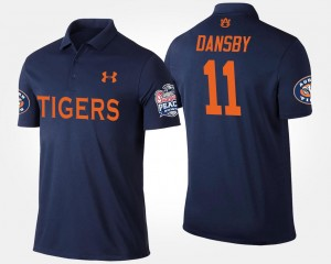 #11 Karlos Dansby AU Polo Peach Bowl Name and Number Mens Bowl Game Navy
