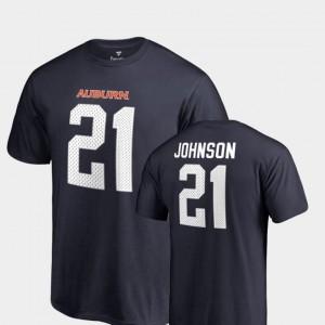For Men Name & Number #21 Navy College Legends Kerryon Johnson Auburn Tigers T-Shirt