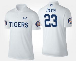 Name and Number Ryan Davis AU Polo For Men White #23