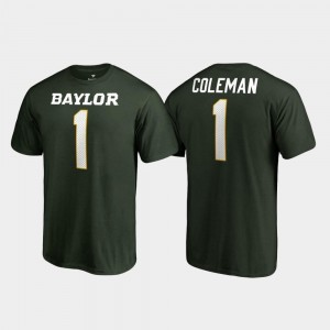 Green College Legends Corey Coleman BU T-Shirt For Men Name & Number #1