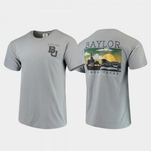 BU T-Shirt Gray Campus Scenery Comfort Colors For Men