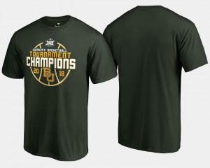 Baylor University T-Shirt Basketball Conference Tournament For Men's 2018 Big 12 Champions Green
