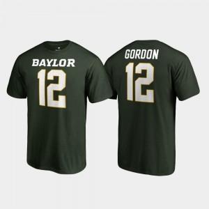Name & Number Green Men's Josh Gordon Baylor T-Shirt College Legends #12