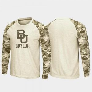 Oatmeal Men OHT Military Appreciation Baylor T-Shirt Raglan Long Sleeve Desert Camo