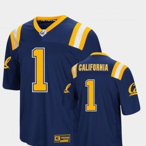 Navy For Men Foos-Ball Football #1 Colosseum Authentic Golden Bears Jersey
