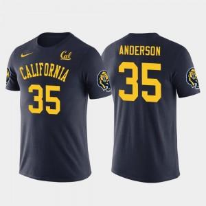 Navy Men Future Stars #35 C.J. Anderson California Golden Bears T-Shirt Los Angeles Rams Football