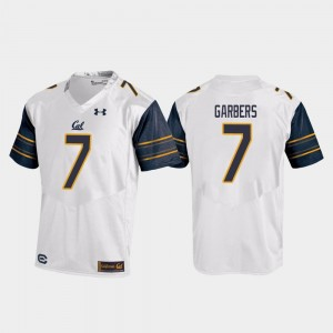 College Football #7 Chase Garbers University of California Jersey Replica Under Armour Men White
