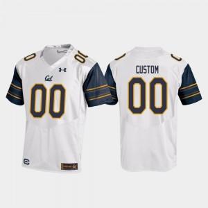 College Football Bears Custom Jersey #00 White Men's Replica Under Armour
