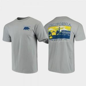 Campus Scenery Comfort Colors For Men California Golden Bears T-Shirt Gray