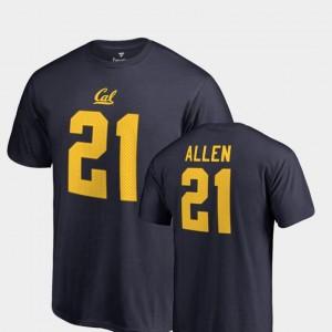 Keenan Allen Cal T-Shirt For Men's College Legends Navy Name & Number #21