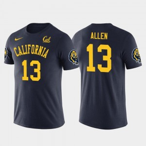 #13 Future Stars Los Angeles Chargers Football For Men's Navy Keenan Allen Cal Golden Bears T-Shirt
