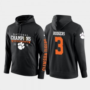 2018 National Champions Amari Rodgers Clemson University Hoodie Black For Men College Football Pullover #3