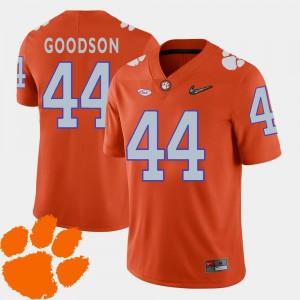 Orange For Men's College Football #44 B.J. Goodson Clemson National Championship Jersey 2018 ACC