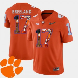 #17 For Men Bashaud Breeland CFP Champs Jersey Football Pictorial Fashion Orange