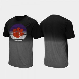 Fancy Walking For Men Dip Dye Black Clemson University T-Shirt