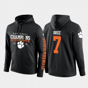 For Men 2018 National Champions Black College Football Pullover Chase Brice CFP Champs Hoodie #7