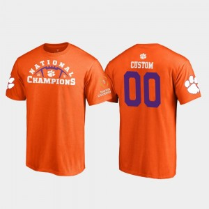 For Men's CFP Champs Customized T-Shirts Orange Pylon College Football Playoff 2018 National Champions #00