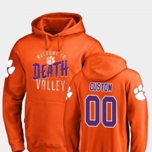 Mens Orange Fanatics Branded Logo #00 Hometown Collection Clemson University Custom Hoodie