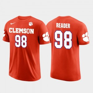 #98 Future Stars Men's D.J. Reader Clemson Tigers T-Shirt Orange Houston Texans Football