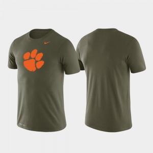 Clemson University T-Shirt For Men's Tonal Logo Legend Performance Green