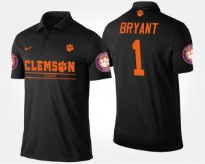 Men's Martavis Bryant Clemson University Polo Bowl Game Atlantic Coast Conference Sugar Bowl Name and Number #1 Black
