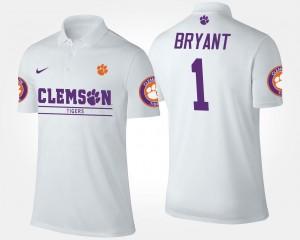 #1 Name and Number Men's Martavis Bryant Clemson University Polo White