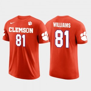 Orange For Men Future Stars Los Angeles Chargers Football Mike Williams Clemson National Championship T-Shirt #81