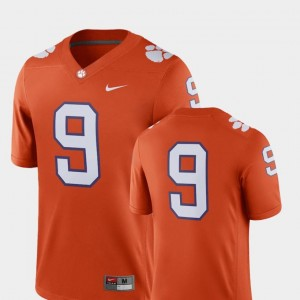 2018 Game Nike Clemson Jersey Men's College Football Orange #9