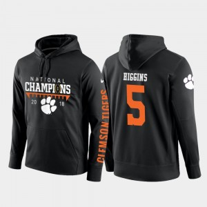 #5 For Men Black Tee Higgins Clemson Tigers Hoodie 2018 National Champions College Football Pullover