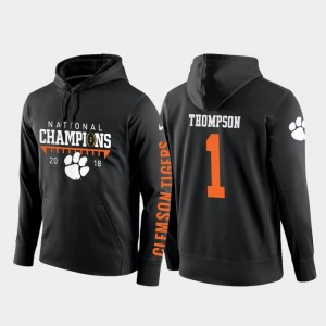 Trevion Thompson Clemson National Championship Hoodie 2018 National Champions College Football Pullover Black #1 Men