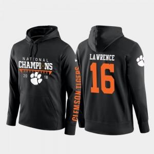 2018 National Champions Trevor Lawrence Clemson National Championship Hoodie Men College Football Pullover #16 Black