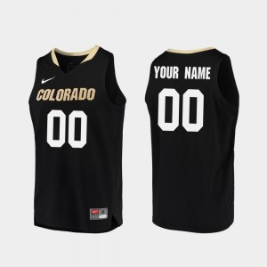 Buffaloes Customized Jersey Mens #00 College Basketball Replica Black