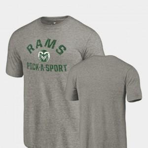 Gray Pick-A-Sport Colorado Buffaloes T-Shirt Men's Tri Blend Distressed