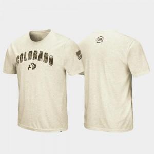 OHT Military Appreciation UC Colorado T-Shirt Desert Camo Oatmeal For Men's