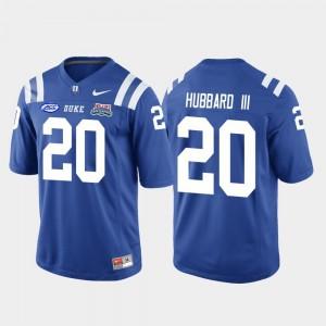 For Men #20 2018 Independence Bowl College Football Game Marvin Hubbard III Duke Blue Devils Jersey Royal