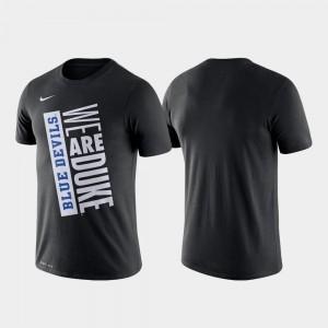 For Men Blue Devils T-Shirt Nike Basketball Performance Black Just Do It