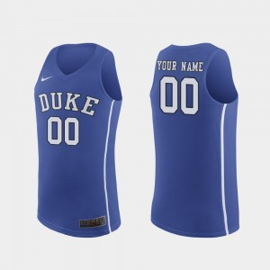 #00 For Men Authentic March Madness College Basketball Royal Duke Blue Devils Custom Jerseys