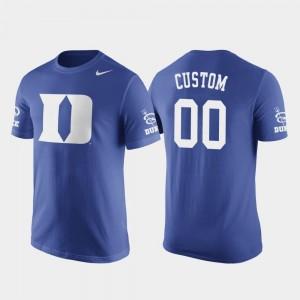 For Men Duke Customized T-Shirts #00 Future Stars Nike Basketball Replica Royal