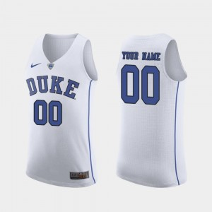 Blue Devils Custom Jersey March Madness College Basketball For Men's White Authentic #00