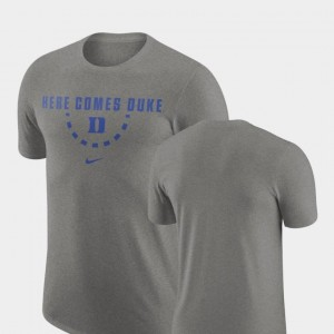 Nike Men's Duke T-Shirt Basketball Team Heathered Gray