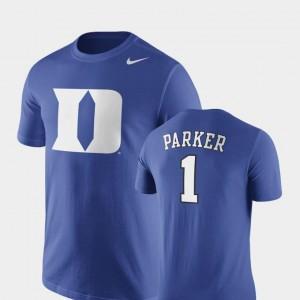 Future Stars Nike Basketball Replica Royal #1 Mens Jabari Parker Duke Blue Devils T-Shirt