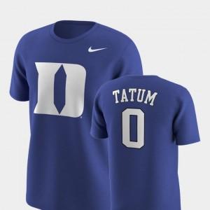 Nike Replica Future Stars Royal Jayson Tatum Blue Devils T-Shirt For Men #0