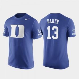 Men Nike Basketball Replica Royal Future Stars #13 Joey Baker Duke University T-Shirt