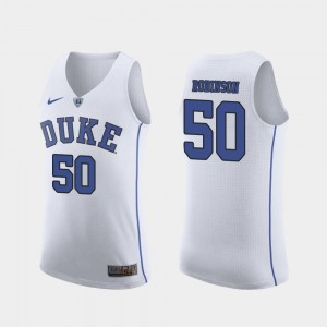Justin Robinson Duke University Jersey March Madness College Basketball For Men's White Authentic #50